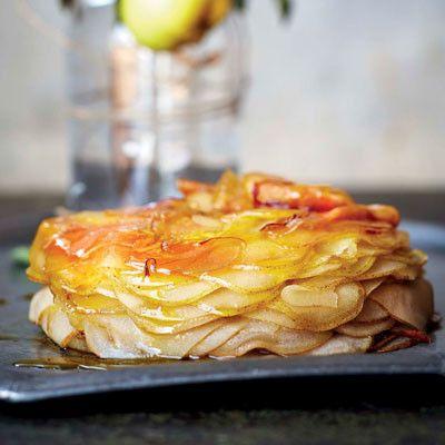 Taste Mag | Baked caramelised pear stack @ http://taste.co.za/recipes/baked-caramelised-pear-stack/