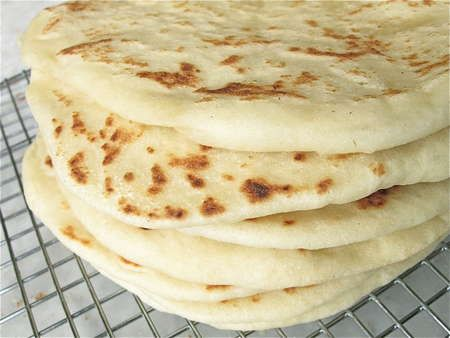 Homemade Gordita Flatbread (1) From:  King Arthur Flour (2) Webpage has convenient Pin It Button