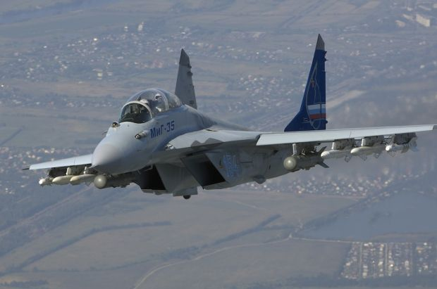 """Russian Mikoyan Mig 35 """"Fulcrum F"""". fighter."""