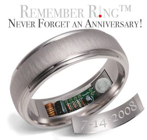 24 hours before your anniversary, the Hot Spot (where the date is, etc) on the interior surface of your Remember Ring will warm to 120º F for approximately 10 seconds, and continue to warm up every hour, on the hour, all day long!