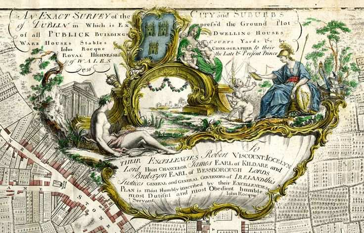 Cartouche of John Rocque's Dublin Map of 1756
