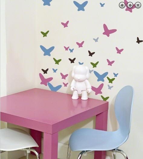 Fabulous Wandgestaltung im Kinderzimmer mit Wandsticker Schmetterlinge von wallcandy arts