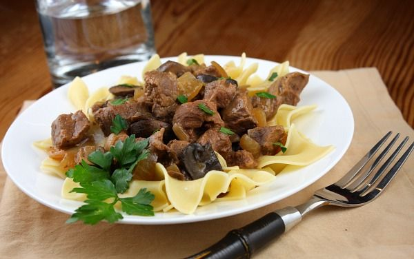 Beef Stroganoff | This lightened up version is super simple to make ...