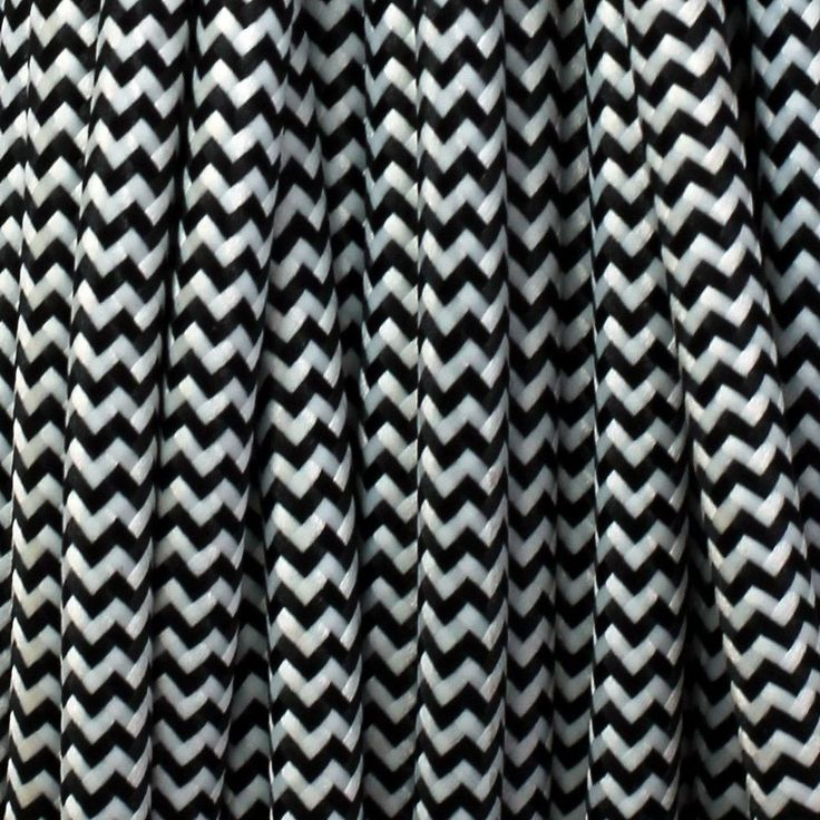 Black and white zig zag lighting cable.