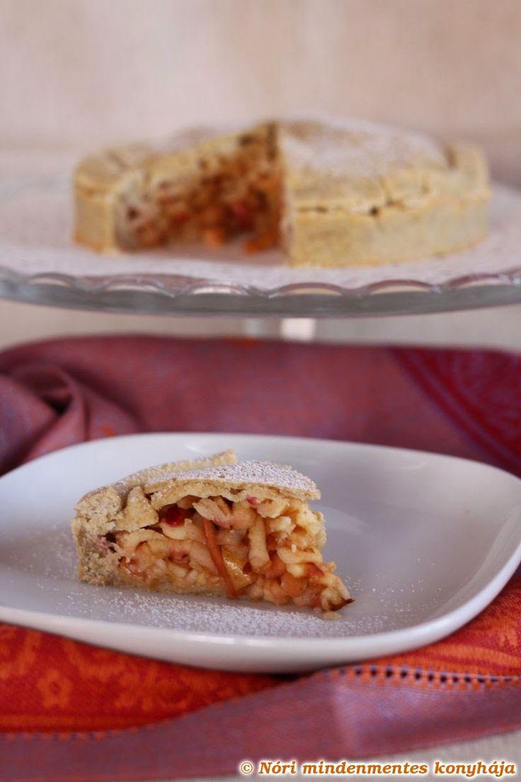 Nóri mindenmentes konyhája: Mindenmentes almás pite gyorsan és egyszerűen: gluténmentes, cukormentes, tejtermék- és tojásmentes, vegán recept teljes kiőrlésű lisztekből