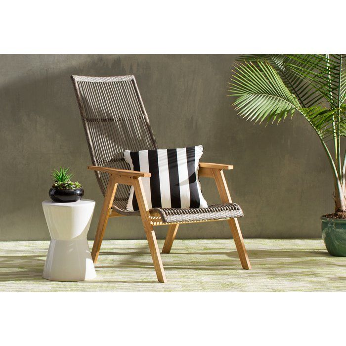 Largent Teak Patio Chair With Cushions In 2019 Front Porch