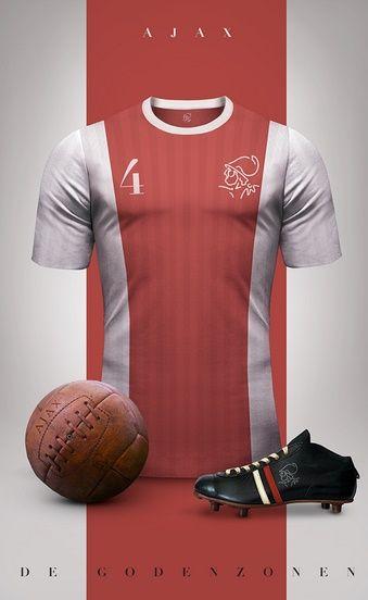 Ajax - Camisetas vintage de gigantes de Europa
