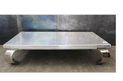 Mirror sofabord 120x120 cm