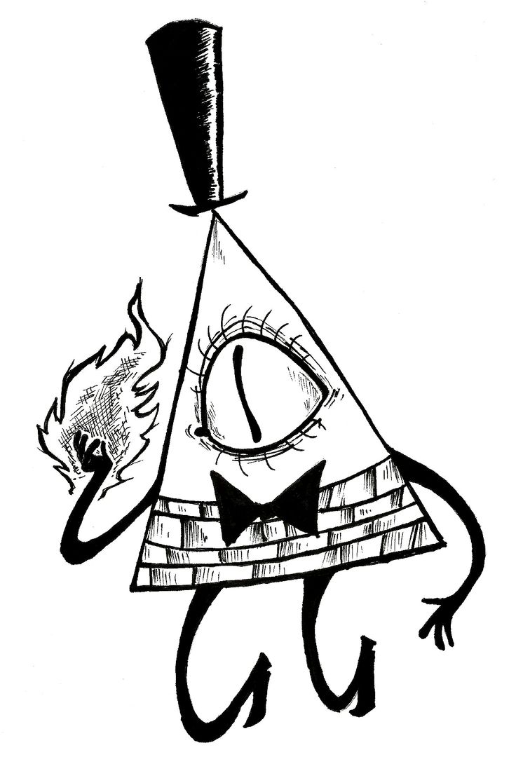 Coloring pages gravity falls - Bill Cipher