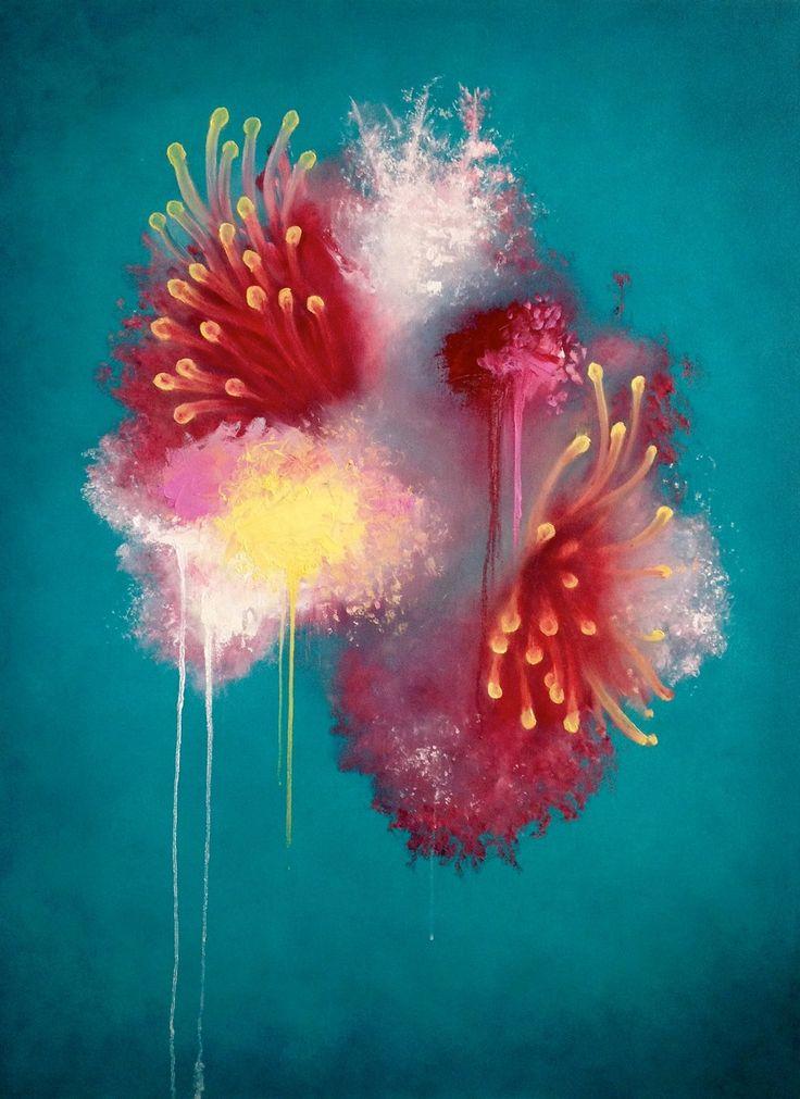 'Naomi's Reef' oil on canvas, 90cm x 1.2m