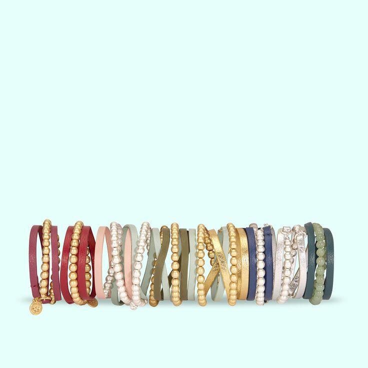 A perfect range of Summer bracelets in bright colours by SENCE Copenhagen