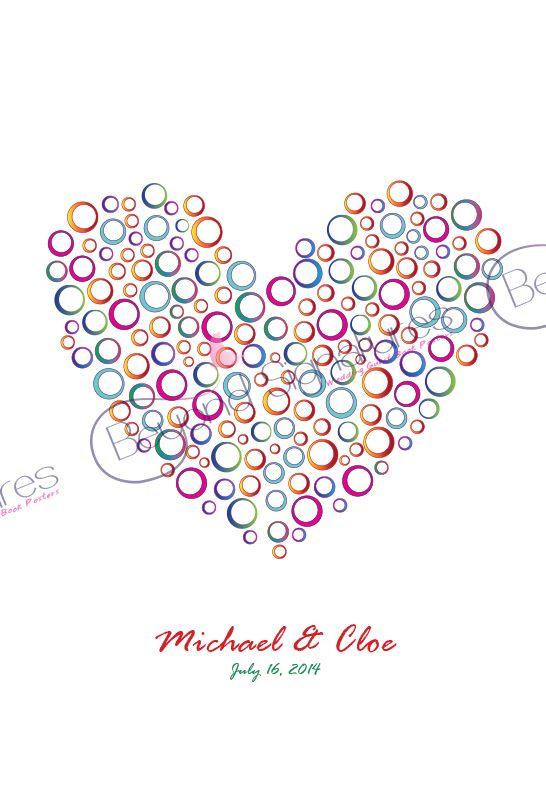 Rainbow Heart - Wedding Signing Poster beyondsignatures.com