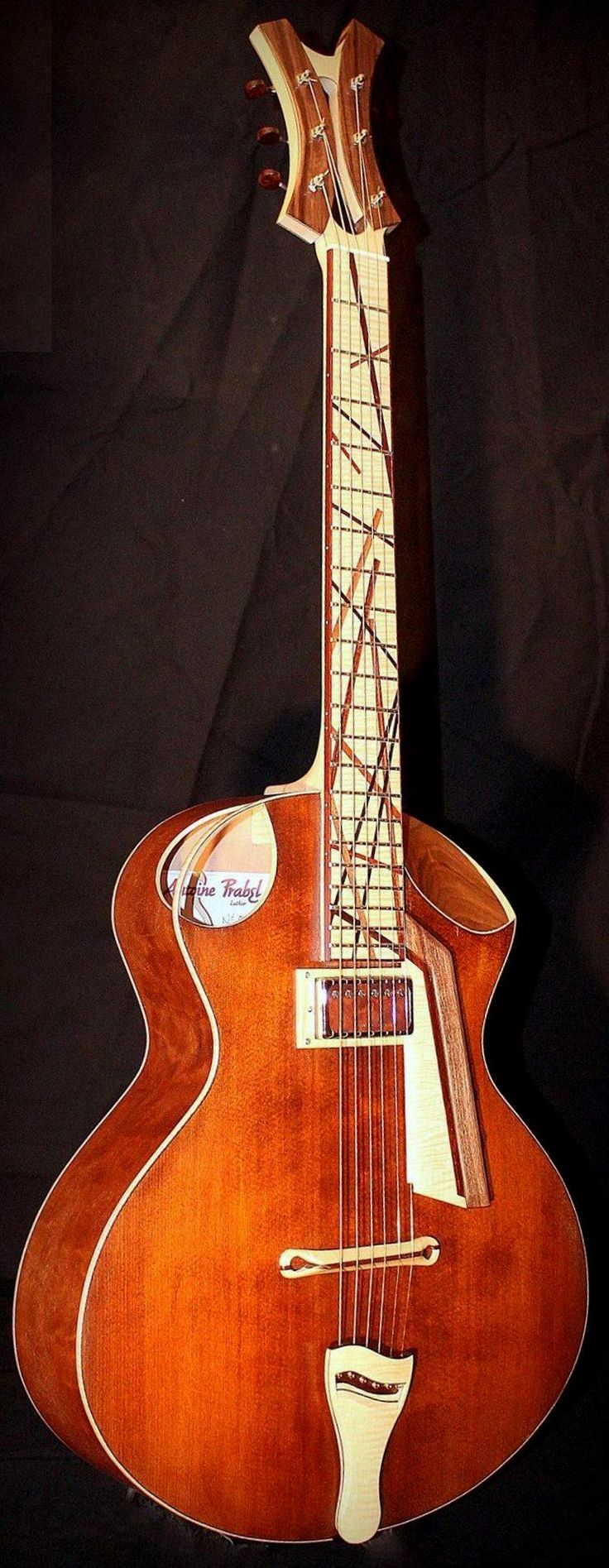 Antoine Prabel hybrid Archtop Guitar - made in Saint Germain au Mont d'Or, France