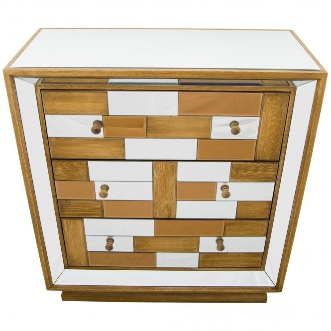 Bronze Mirrored Chest Of Drawers Mirror Chest Of Drawers