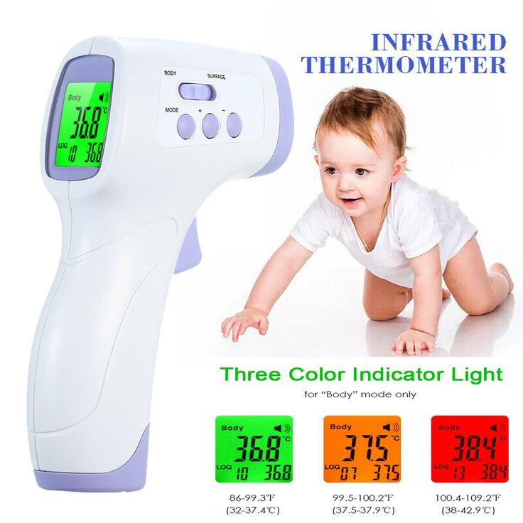 Digital infrared thermometer noncontact ir forehead ear