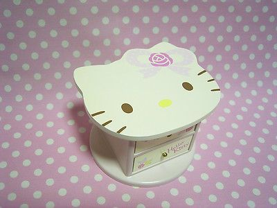 HELLO KITTY Tiny Wooden Chest Case Sanrio Japan 2006 Happy Birthday Gift Condition As Shown In The Pictures Unused You