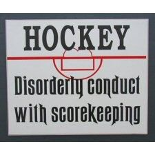 Some cool hockey signs.