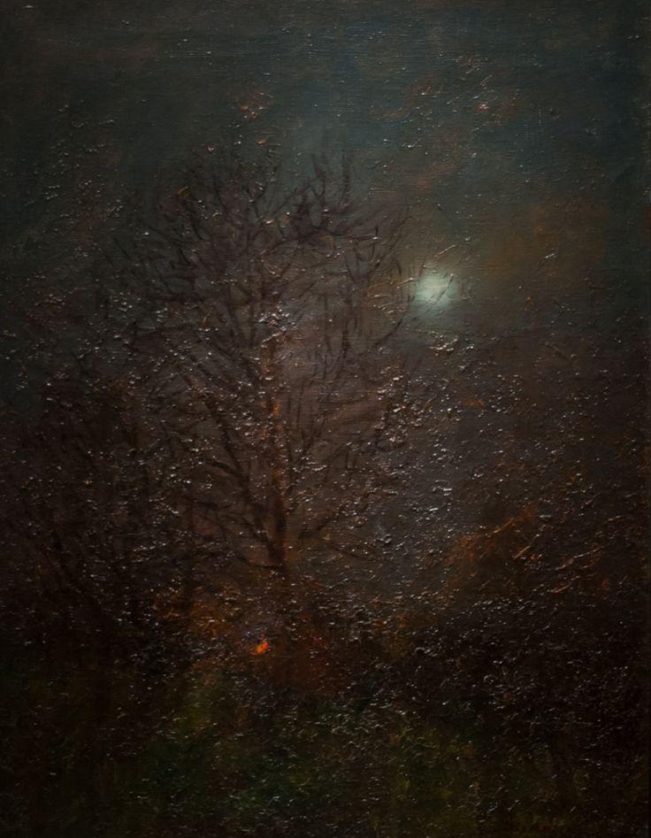 Moonshine-painting by LászlóMednyánszky