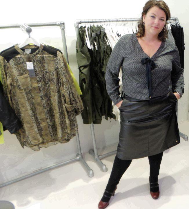 Dyanne+, dyanne beekman, zwarte rok, blouse, grote maten mode