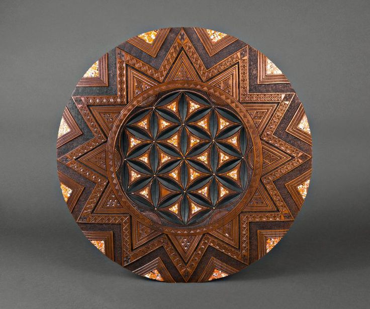 Decorative Wall Plate Is Made Of Different Kinds Of Wood. The Product Is  Decorated With