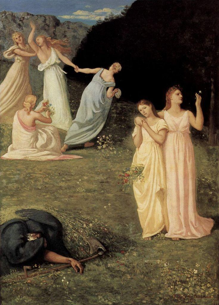 Pierre-Cécile Puvis de  La Mort et les jeunes filles (1872) Chavannes 002 - Pierre Puvis de Chavannes — Wikipédia