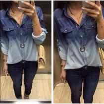 Camisa Blusa Jeans Feminina/camisa Jeans Feminina Barata