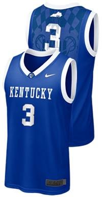 Kentucky #3 Basketball Road Jersey
