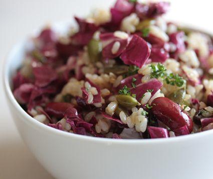 玄米と赤キャベツのサラダ