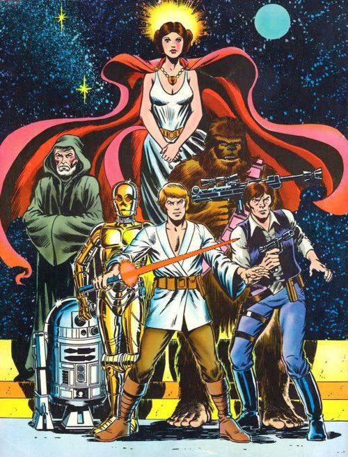 Old-School Star Wars comic-book art.