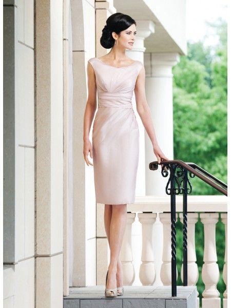 Elegant Ivory Mermaid Round Neck Short Prom Dress JABP0006