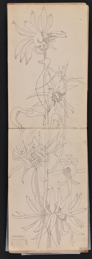 Charles Rennie Mackintosh, Sketchbook of travels in Scotland and a tour to Kent,1895. Hunterian Art Gallery Mackintosh collections: GLAHA 53012/14