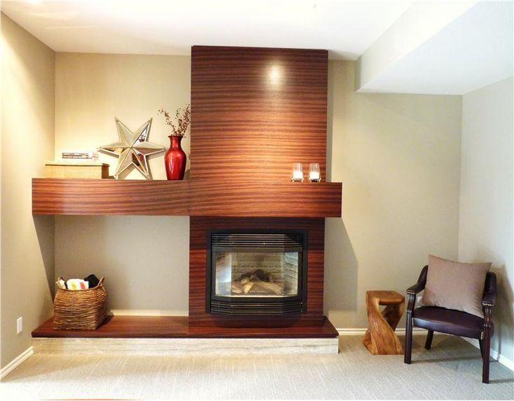 Best 25 contemporary fireplace mantels ideas on pinterest - Modern mantel decor ideas ...