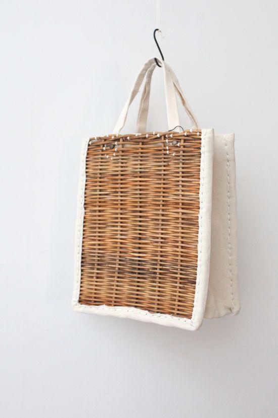 Basket tote bag.