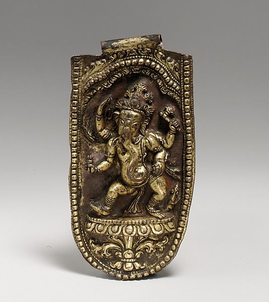 Four-Armed Ganesha Dancing. Nepal (Kathmandu Valley), 16th–17th century. Gilt-copper alloy, h. cm. 16.4. New York, The Metropolitan Museum.