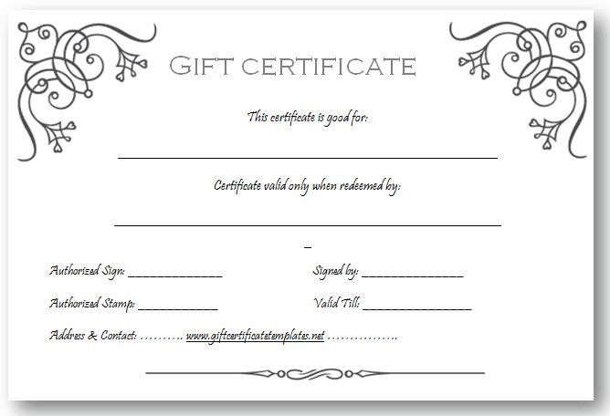 Birthday Gift Certificate Templates by www - printable vouchers template