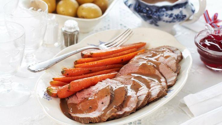 Oppskrift på Kalvestek med glaserte gulrøtter