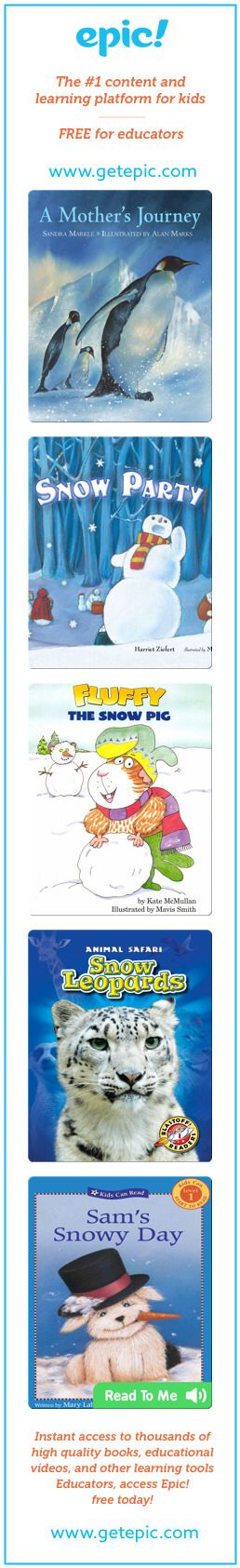 EpicPals January (primary Version) - Titles in this collection: A Mother's Journey, Snow Party, Fluffy and the Snow Pig, Snow Leopards, Sam's Snowy Day