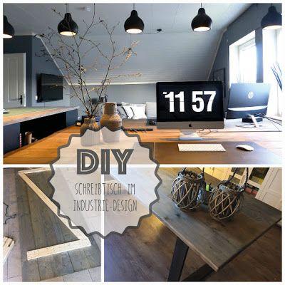 Marvelous DIY Schreibtisch Im Industrie Design Amazing Design