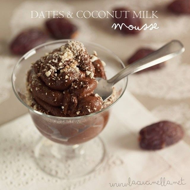 #dates #coconut #milk #vegan #mousse full recipe on  http://lacucinella.net/2014/06/04/mousse-di-datteri-e-latte-di-cocco