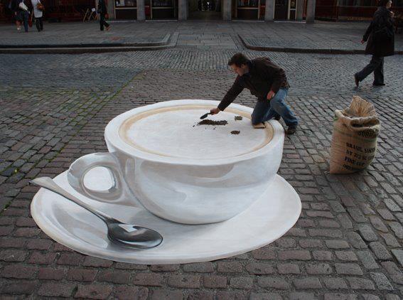 Cappuccino for the whole city: Street Artists, Chalkart, 3D Street Art, Sidewalks Chalk Art, Optical Illusions, Memorial Cups, 3D Art, Sidewalks Art, Streetart