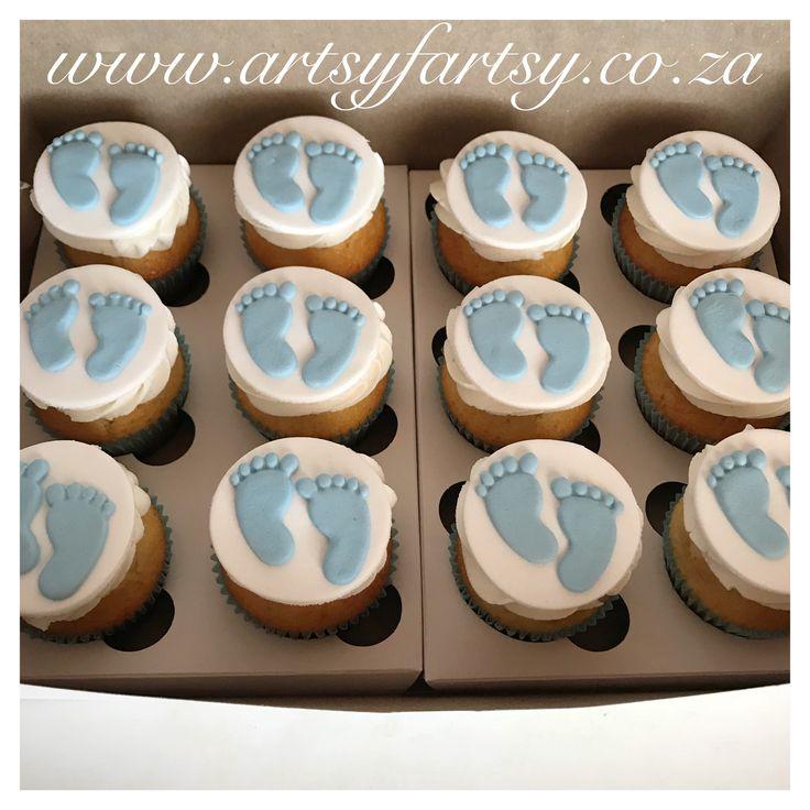 Baby Feet Cupcakes #babyfeetcupcakes