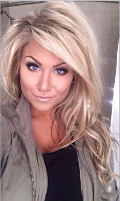 Blonde, add in a few chocolate streaks