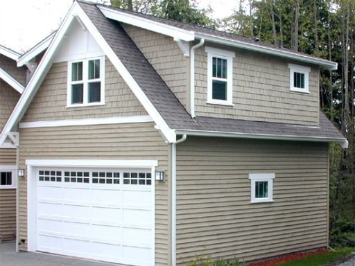 A 20u0027 X 23u0027 Detached Garage With Upstairs Living ...