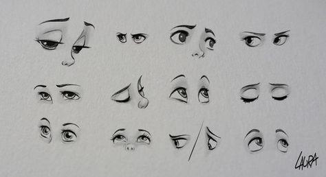 Disney eyes practice by dennia.deviantart.com on @deviantART