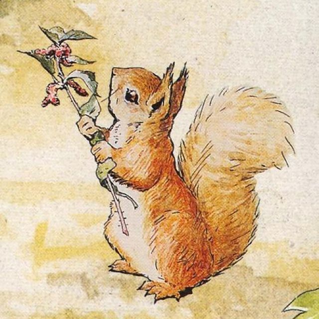 Illustration de Beatrix Potter (1866-1943) naturaliste et écrivaine anglaise. …