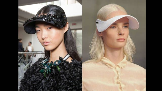 Visor Vixzens! Fashion Hairstyle Accessories Slicked Back Gel Long Straight Blond Black Trend 2014 Spring Summer Accessories Hats Outdoors Donald Sterling V. Stiviano harpersbazaar.com