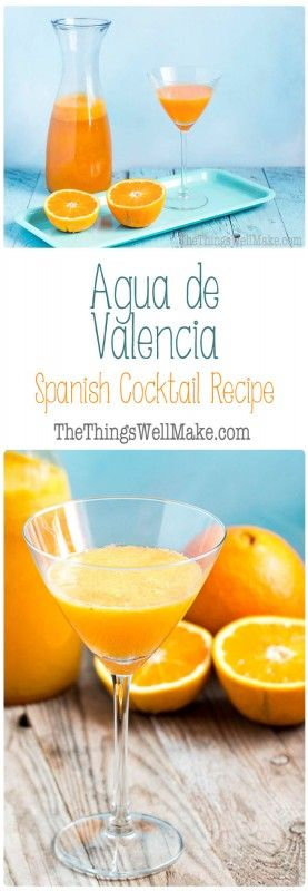 Fresh orange juice and cava take center stage in this agua de Valencia recipe. Learn how to make this popular Spanish cocktail reminiscent of the mimosa. #cocktail #aguadevalencia