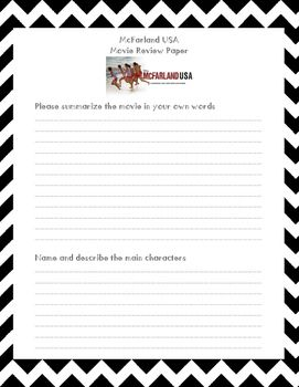mcfarland usa movie review printable worksheet spanish 1 writing assignments printable. Black Bedroom Furniture Sets. Home Design Ideas