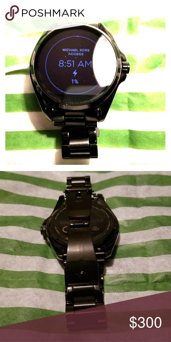 Michael Kors Bradshaw Digital Watch Its compatible with Apple and Android smartphones. With built-in fitness tracking through Google Fit, you can view calories burned, steps and distance traveled. Receive notifications, such as calls and alerts, at a glance as well. Personalize your watch by selecting or customizing the watch face of your choice and changing out the straps to match your activity or look. Michael Kors Accessories Watches