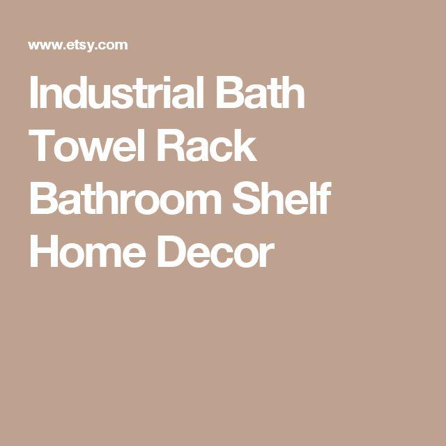 Industrial Bath Towel Rack Bathroom Shelf Home Decor